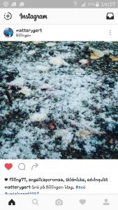 Första snön på Billingen